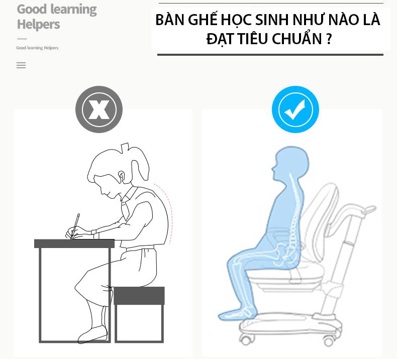 Tiêu chuẩn bàn ghế học sinh theo Thông tư chuẩn của Bộ Giáo Dục mới nhất